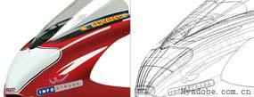 用Illustrator绘制红色炫动摩托车(4)