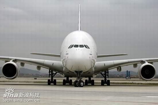 A380抵达广州白云机场进行验证和展示飞行(图)