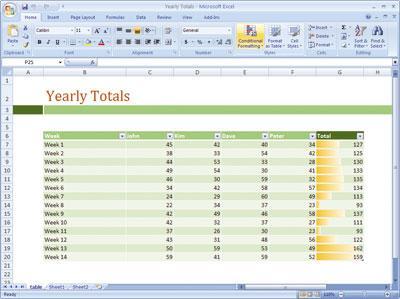 微软office2007使用界面截图赏析-excel图片