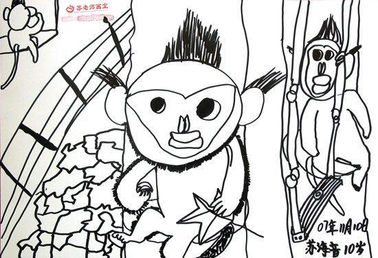 滇金丝猴月儿童绘画比赛优秀作品展示二(图)
