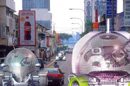 设计师展望未来城市:韩国智能公园似外星人
