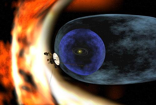 """""""旅行者""""2号探测太阳系边际模拟图"""