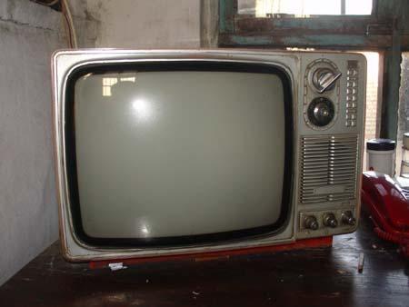 我国第一台黑白电视机北京牌14英寸黑白