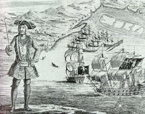 十大最著名海盗:黑胡子海盗曾试图建立政权