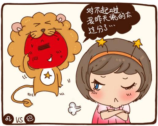 第一名狮子男VS巨蟹女粗心的狮子对巨蟹的小情绪总是不够敏感,但他们顾家又有责任心,让巨蟹很安心。