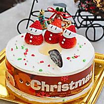 美味草莓圣诞小人蛋糕