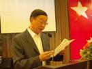 江苏省委原副书记、省文联主席顾浩宣读全国政协副主席孙家正贺信