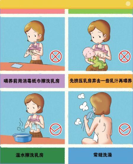 母乳喂养前要彻底清洁乳房?