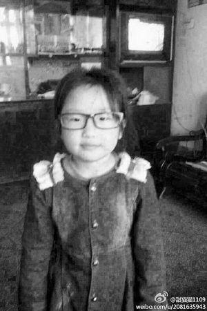 6岁走失女孩谭斯予。(图片由孩子母亲张女士提供)