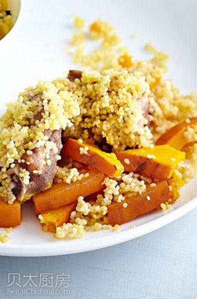 鲜美暖糯的排骨:金瓜美食蒸小米快生了可以吃胎毒去鹅蛋吗图片