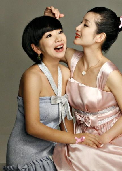 秦海璐和姐姐