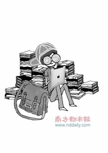 孩子长时间玩iPad会造成视力下降 南都漫画黄敬