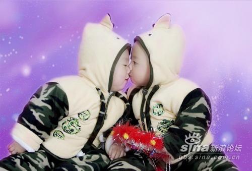 星光熠熠宝宝秀第114:可爱双胞胎(图)