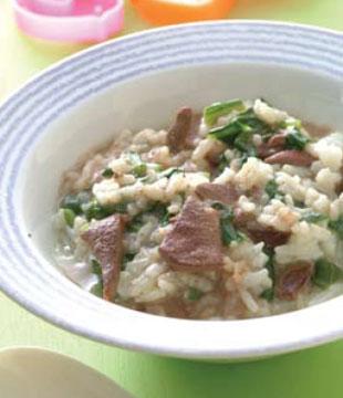 宝宝补铁食谱:猪肝粥(图)