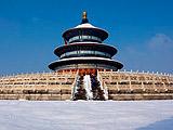 东城:天坛踏雪时间宁静