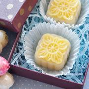自制晶莹剔透的椰丝奶黄冰皮月饼