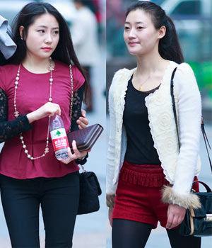街拍:重庆美女好白嫩