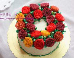 送给爱人的甜蜜玫瑰蛋糕