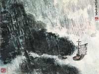风雨孤帆(局部)
