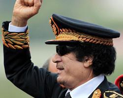 卡扎菲对美国阴晴不定