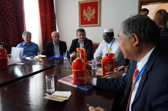 中国世界和平基金会一行与黑山尼克希奇市市长会谈
