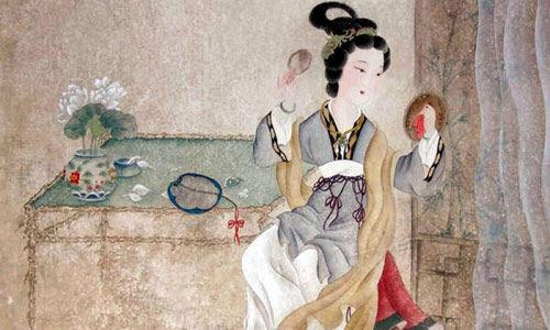 古代女子梳妆