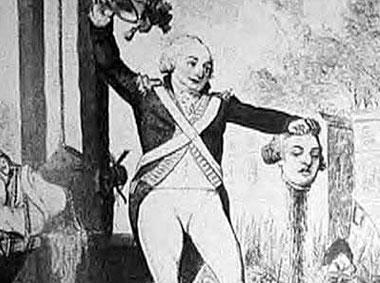法国革命期间,许多法国贵族被送上的断头台。