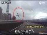 """台""""小黄""""司机遭航空坠机擦撞 求救录音曝光"""
