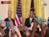 """抗议者闹白宫 奥巴马怒责""""在我家请礼貌"""""""