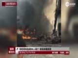 一架印尼军机坠毁30人死亡 现场浓烟滚滚