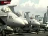 """俄战机靠近美""""里根号""""航母 美战机挂弹伴飞"""
