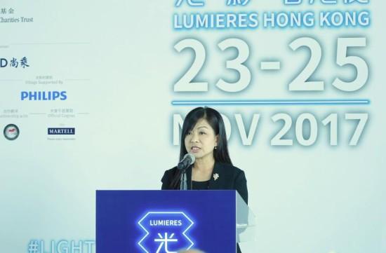 香港赛马会慈善事务部主管(体育、康乐、艺术及文化) 陈淑慧女士致辞