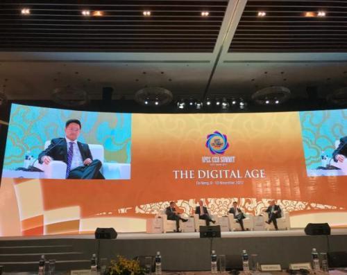 码隆科技CEO黄鼎隆在2017 APEC进行分享