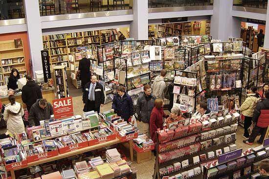 英国苏格兰格拉斯哥,边界书店