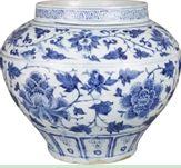 中拍国际:元青花缠枝牡丹纹大罐