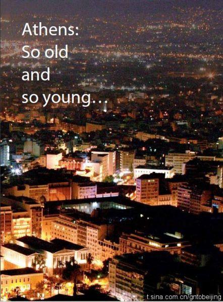 希腊雅典夜景