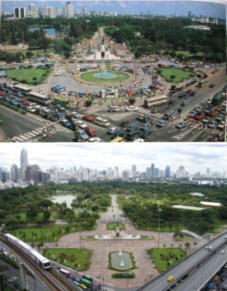 曼谷1988年和2007年对比照