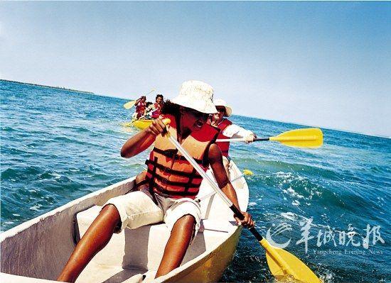圣马丁岛皮艇游