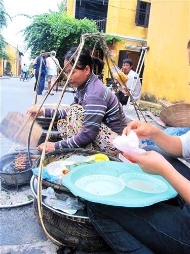 岘港特色的芝麻烤肉。
