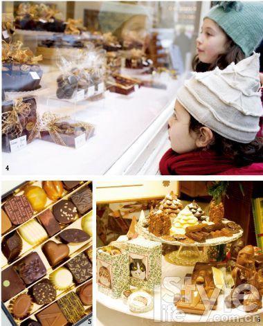 4. 无论孩子还是大人,都无法拒绝巧克力店橱窗里的甜蜜诱惑。 5. 各种造型可爱的巧克力让你爱不释手。 6. 在巧克力博物馆里,能工巧匠们制作出一座座可以吃的微型雕塑。