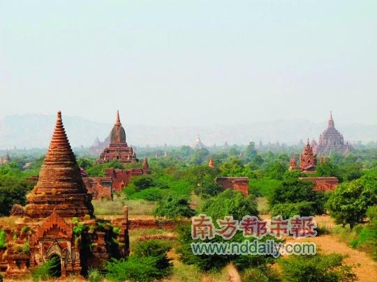 """蒲甘也被称为""""万塔之城""""。"""