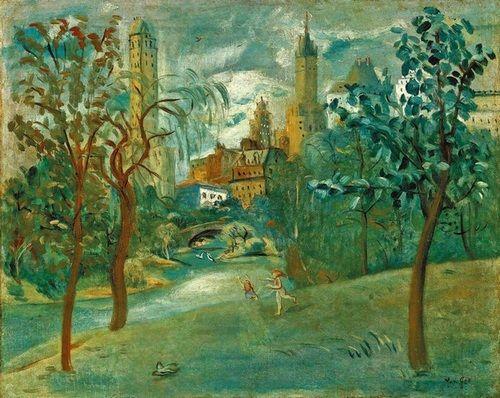 朱沅芷《纽约中央公园》63.5×80cm 约1940