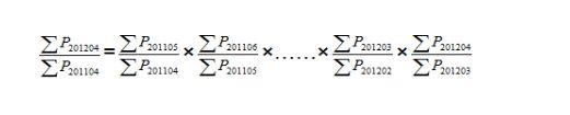 图为同比价格指数计算公式。