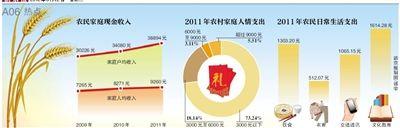 中国农村居民基尼系数在2011年已达到0.3949,正在逼近0.4的国际警戒线。