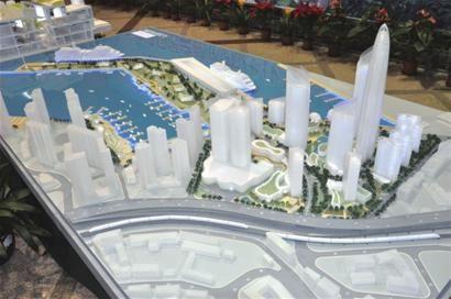 邮轮母港第二套方案效果模型。