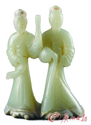 汉宣帝杜陵陵园出土的连体圆雕玉舞人