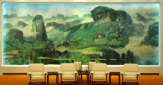 武夷之春(10×4m,1994年,人民大会堂福建厅漆壁画)