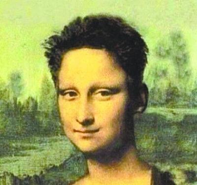 短发蒙娜丽莎