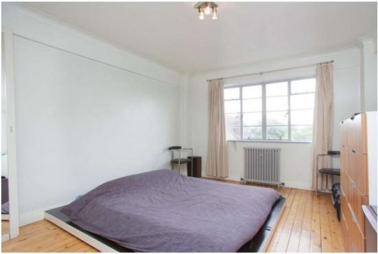 伦敦一间一居室。