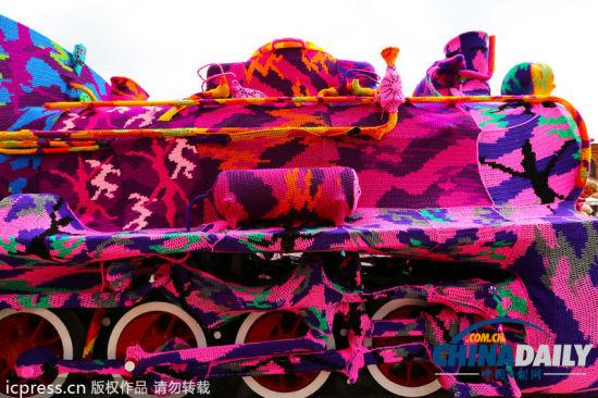 彩色火车靓丽迷人